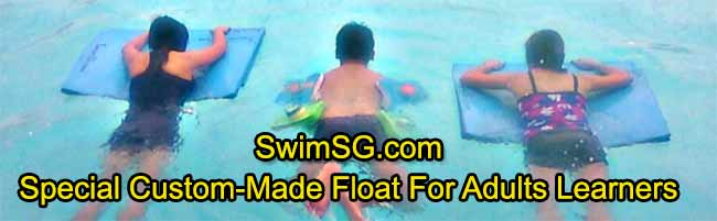 SwimSG.com - Special Custom made float adults lessons singapore