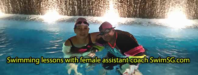 SwimSG.com - Swimming lessons with female assistant coach Singapore