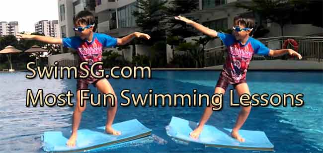SwimSG.com - kid swimming lessons in singapore surfing condo