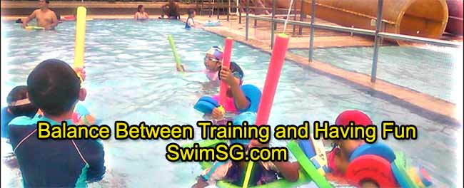 SwimSG.com - Swimming Lessons Teenage having fun and training in Singapore