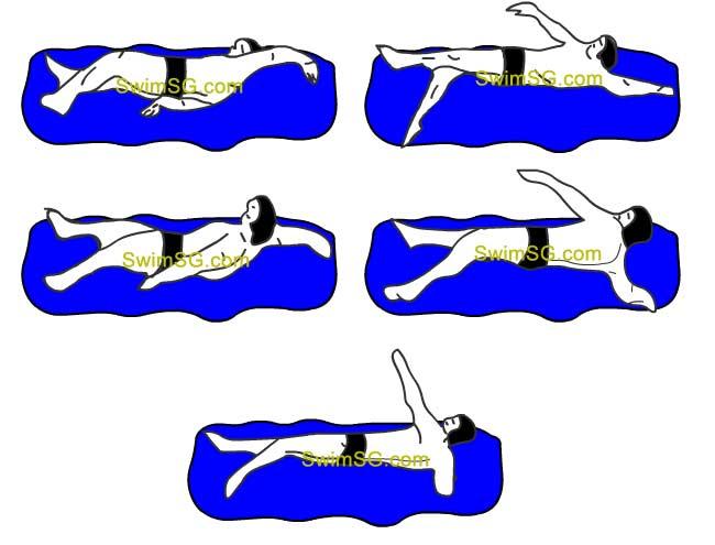 SwimSG - Swimming lessons backstroke Singapore Hougang condo