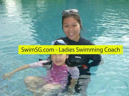 SwimSG.com - Ladies Swimming Coach Condo Swimming Lessons