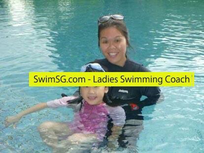 SwimSG.com - Ladies Swimming Coach Condo Swimming Lessons