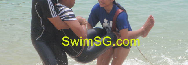 SwimSG.com - Duo lift Learn lifesaving classes Singapore Sengkang